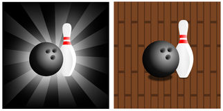 Bowling background Stock Images