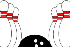 Bowling background Royalty Free Stock Photos
