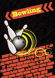 Bowling background.Abstract poster Royalty Free Stock Photos