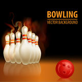 Bowling background. With ball. Beautiful sport background Stock Photography