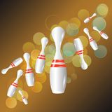 Bowling background Royalty Free Stock Images
