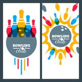 Bowling backgrounds and  elements for banner, poster, flyer, label design. Stock Photography