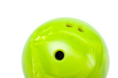 Bowling ball. Bright green Isolated bowling ball Stock Photos