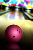 Bowling ball. On the wooden bowling lane Stock Image