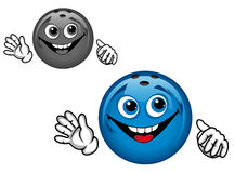 Bowling ball. In cartoon style for sports design Stock Images