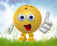 Bowling ball 3d mascot figure Stock Image