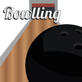 Bowling. Ball on abstract  line background Royalty Free Stock Photography
