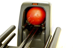 Bowling Ball being returned in ball return Royalty Free Stock Photography