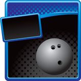 Bowling ball on blue and black halftone ad Stock Photography
