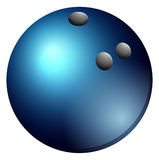 Bowling ball in blue color Stock Photo