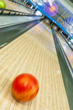 Bowling ball blur Stock Images