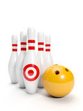 Bowling ball and bowling Stock Photography