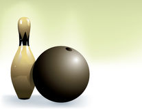 Bowling ball and Bowling pins Royalty Free Stock Photo