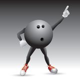 Bowling ball character striking a pose Stock Photos