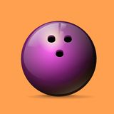 Bowling ball color flat icon vector Royalty Free Stock Photos