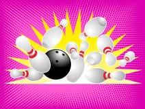 Free Bowling Ball Crashing Into The Pins Royalty Free Stock Photography - 11179177