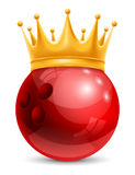 Bowling Ball in Crown Royalty Free Stock Photo