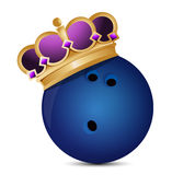 Bowling ball with a crown Royalty Free Stock Photos