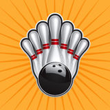 Bowling Ball Design Element Set 2. Vector Drawing Stock Photos