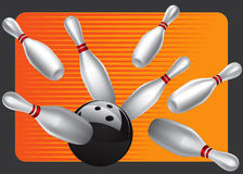 Bowling Ball Design Element Set 3. Drawing Stock Illustration