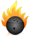 Bowling ball on fire Royalty Free Stock Image