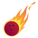 Bowling Ball in Fire. Vector illustration of a Bowling Ball in Fire isolated on white Royalty Free Stock Photography