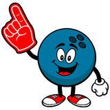 Bowling Ball with Foam Finger Royalty Free Stock Image