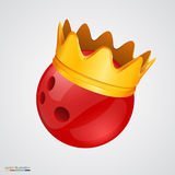 Bowling ball with a golden crown Stock Photography