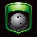 Bowling ball in green display Stock Images