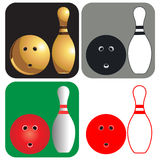 Bowling ball Icon Stock Photos