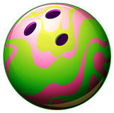 A bowling ball. Illustration of a bowling ball on a white background Stock Images