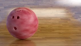 Free Bowling Ball Number 16 On A Shinning Wood Floor Royalty Free Stock Photography - 106169247