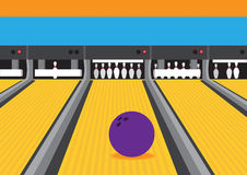 Bowling Ball On Lane Vector Illustration Royalty Free Stock Images