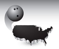Bowling ball over united states icon Stock Image