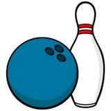 Bowling Ball and Pin Royalty Free Stock Image