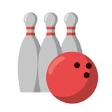 Bowling ball pin sport. Illustration eps 10 Stock Photo