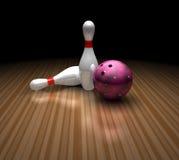 Bowling ball and pins Royalty Free Stock Photo