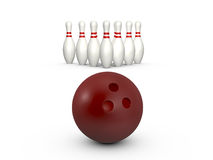 Bowling Ball Ready to Hit Stock Images