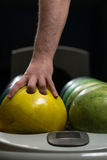 Bowling Ball Ready To Throw Some Of You Guys Stock Photos