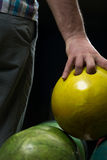 Bowling Ball Ready To Throw Some Of You Guys Stock Images