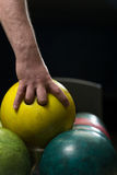 Bowling Ball Ready To Throw Some Of You Guys Royalty Free Stock Photography