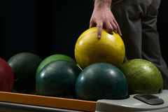 Bowling Ball Ready To Throw Some Of You Guys Royalty Free Stock Photos