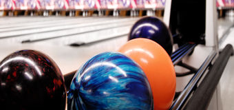 Bowling ball return Stock Photography