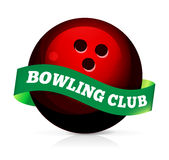 Bowling ball with ribbon Stock Photo