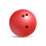 Bowling ball. Sport equipment for game. Leisure and fun. Vector illustration  on white background Royalty Free Stock Photography