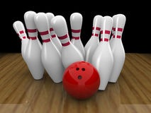 Bowling ball strike Stock Image