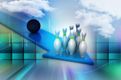 Bowling ball target concept Stock Photography