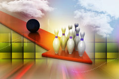 Bowling ball target concept Royalty Free Stock Photo