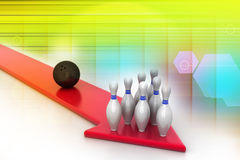 Bowling ball target concept Stock Images