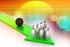 Bowling ball target concept Royalty Free Stock Photography